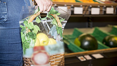 Plastic bags for fruit and vegetables