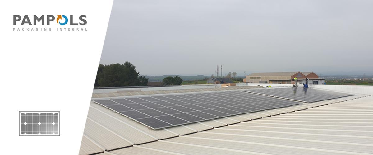 PAMPOLS apuesta por la energía solar e instala 108 placas fotovoltaicas